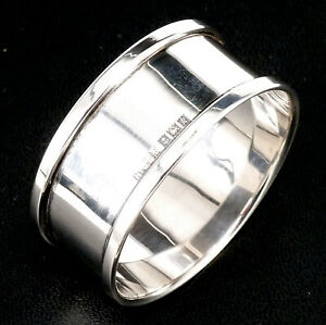 SILVER NAPKIN RING 1966 HALLMARKED STERLING BY HENRY GRIFFITH & SONS LTD