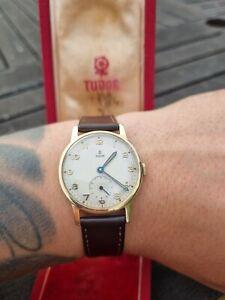 Tudor Rolex 9ct Solid Gold Dress Watch 1959