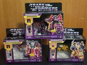 Transformers Decepticon Generations Headmaster Mindwipe Weirdwolf Skullcruncher