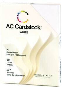 """American Crafts Textured Cardstock Pack 5""""X7"""" 60/P"""