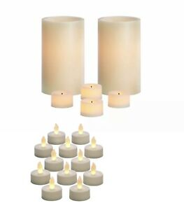Lot of 6 Vanilla Scented LED Candles and 12 LED Unscented Tea Lights!