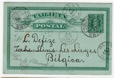 Chile 1904 Valparaiso to Belgium Les Lieges Glons must see