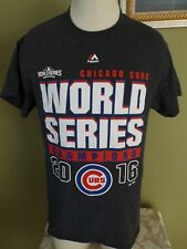 CHICAGO CUBS WORLD SERIES CHAMPIONS 2016 T-SHIRT * S * GRAY *