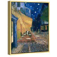 Canvas Print Van Gogh Painting Wall Art Home Decor Cafe Terrace Blue Framed