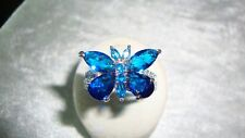 STUNNING CUBIC ZIRCONIA BUTTERFLY RING