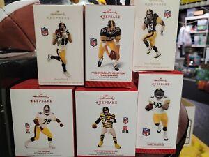 6pc lot Keepsake Steelers ornaments Polamalu Ward Ben Harrison Greene Franco