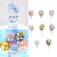 5Pouces Confetti Foil Balloons 8 couleurs Set De Décoration De Gâteau De Mariage