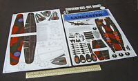 1980s Pictprint Scotland Cut-Out Model Kit Avro Lancaster Bomber
