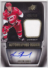 2011 11-12 SPx #174 Justin Faulk Jersey Autograph RC Rookie 489/799