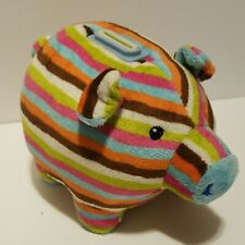 Mary Meyer Baby Piggy Bank Plush Striped 8 x 4