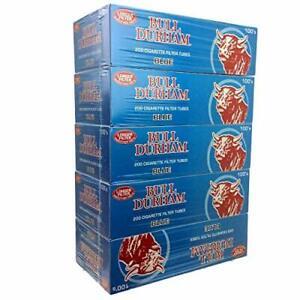 Bull Durham Cigarette Filter Tubes Light Blue King Size 200ct (5-Boxes)