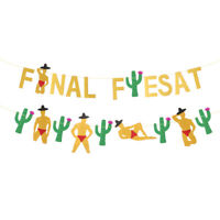 Banner Theme Letter Final Fiesta Creative Pennant Banners for Mexican Fiesta