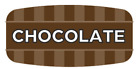 """Chocolate Labels 1000 /Roll Food Store Flavor Stickers .625"""" X 1.25"""""""