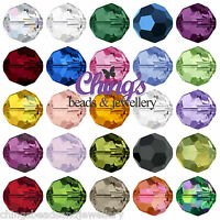 Swarovski Crystal 5000 Round 4mm 6mm 8mm 10mm Beads All Colours