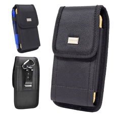 Rugged Nylon Black Canvas Pouch Carrying Case Belt Clip Holster For Nokia 2 V