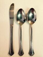 Reed & Barton L'Amour Stainless (2) Soup Spoons, (1) Dinner Knife