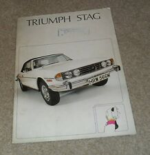 Triumph Stag V8 Roadster Brochure 1975-1976