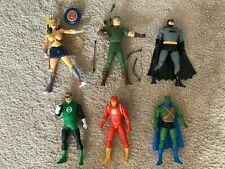 DC: THE NEW FRONTIER Action Figure Lot (DC Direct) Batman, Wonder Woman, Flash
