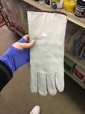New Long Leather Work Gloves X4 Prs