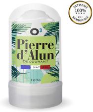 O³ Déodorant Pierre D'Alun Naturelle   Pierre D'Alun Stick 120G   100% Nat