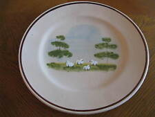 Lamas Italy Hand Painted Terra Cotta Plate Sheep