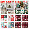 "18"" Christmas Cushion Cover Pillow Case Cotton Linen Car Home Sofa Throw Decor"