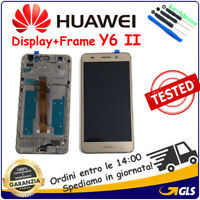 TOUCH SCREEN VETRO FRAME LCD DISPLAY PER Huawei Y6 II Y6 2 Honor 5A CAM-L21 ORO