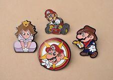 Super Mario Pin insignias X 4 juego de computadora Nintendo Recuerdos