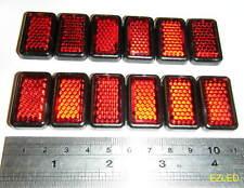 12pcs Rosso Mini Diamond Cut riflettori Autoadesivo Nuovo di Zecca