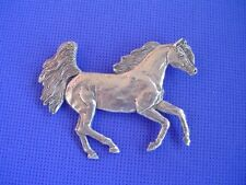 #37E Arabian Horse pin Galloping Pewter dog jewelry by Cindy A. Conter Saluki