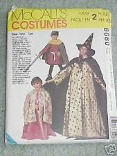 McCALL'S COSTUMES 6680 MAGICIAN- WITCH- ROBIN HOOD- GRIM REAPER