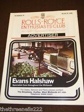 ROLLS ROYCE ENTHUSIASTS CLUB ADVERTISER #79 - MARCH 1988