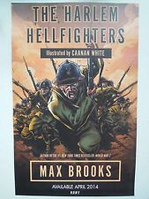 Harlem Hellfighters Poster NYCC Comic Con Max Brooks Canaan White Near Mint