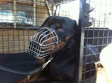 HEAVY DUTY DOG MUZZLE CONTROL WIRE STEEL METAL BASKET DOG LARGE  XL DOG TRAINING