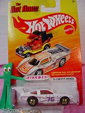 htf 2012 Hot Ones '76 CHEVY MONZA 1976 ☆ White with ☆Stars & Stripes☆HOT WHEELS