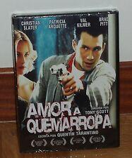 AMOR A QUEMARROPA DVD NUEVO PRECINTADO THRILLER ACCION (SIN ABRIR) R2