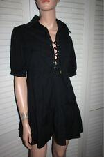 Flavio Castellani Black Corset Bust Mini Dress 42