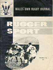 RUGGER SPORT - WELSH RUGBY MAG APPROX NOV 1963 - Vol 4 no2 - BEDDAU & SWANSEA