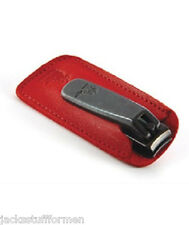 Concord Executive Forged Steel Finger Nail Clipper w/ Red Saddle Leather Case