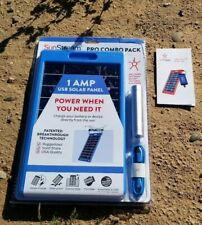 6 Pk SunStream Pro 6W Solar Charger W/ 3000 mAh Storage Battery Flashlight Comb