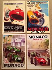 Monaco Grand Prix Postcard Set#11. Find! 1st On eBay Car Poster. Own It!