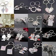 2Pcs Love Heart Symbols Key Chain Ring Keyring Keyfob Lover Couples Gift Great