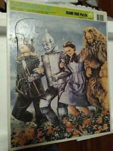 WOW Vintage 1988 Golden The Wizard of Oz Movie Large Tin Man Lion Dorothy Puzzle