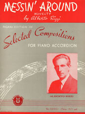 MESSIN' AROUND Music Sheet-1939-PIANO ACCORDIAN-ALBERTO RIZZI-SCOTT Artwork