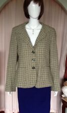 Green Fully Lined Jacket With Pink And Black Pattern From H&M Size 16.