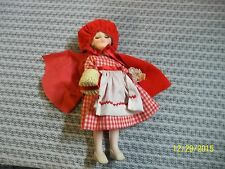 Vintage  EFFANBEE Little Red Riding Hood Doll w/basket/Tag 11""