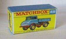 Repro Box Matchbox 1:75 Nr.49 Unimog blau