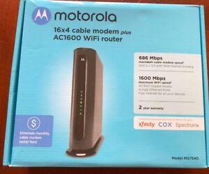 Motorola MG7540 Cable Modem Plus Wifi Router. Original Box.