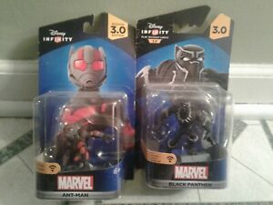NEW DISNEY INFINITY 3.0 BLACK PANTHER AND ANT-MAN MARVEL FIGURES