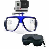 Maschera Gopro,Sjcam,Xiaomi,Action cam,maschera sub,subaquea,Snorkeling,Blu
